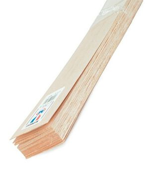 Balsa Wood 36'' Sheets-15PK/3/32''x4''