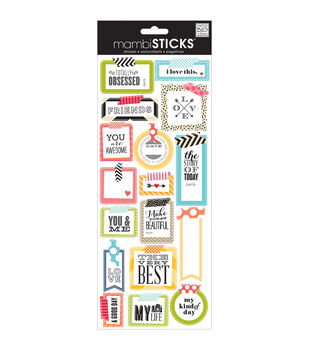 Sayings Stickers-Washi Tape Shapes