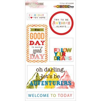 Glitz Design Color Me Happy Stickers Titles
