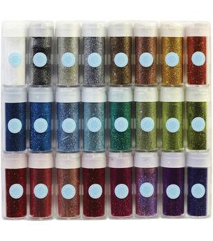 Martha Stewart Essentials Glitter Set .37 Ounce 24/Pkg-