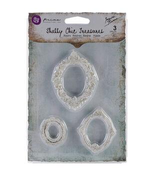 Shabby Chic Treasures Resin embellishments-Oval Frames 3/Pkg