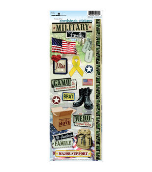 Military Cardstock Stickers-Family