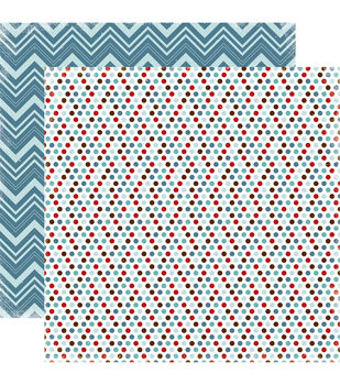 """All Bundled Up Double-Sided Cardstock 12""""X12""""-Multi Dots"""