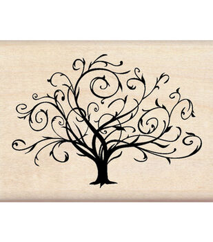 Inkadinkado® Rubber Stamp-Flouished Fall Tree