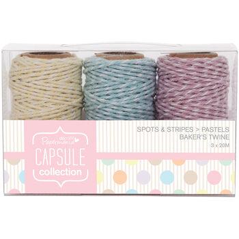 Docrafts Papermania Capsule Baker's Twine Spots & Stripes Pastels
