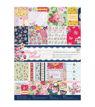 Papermania Simply Floral Ultimate Die-Cut A4 Paper Pack