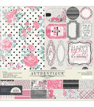 """Authentique Collection Kit 12""""X12""""-Classique Pretty"""
