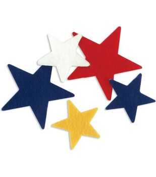 Stick It Felt Everyday Shapes-Stars