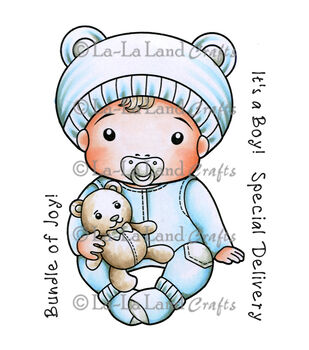 La-La Land Crafts Baby Luka Cling Mount Rubber Stamps