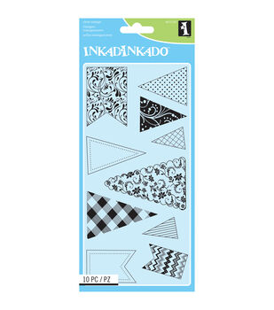 Inkadinkado Banners & Flags Clear Stamp Sheet