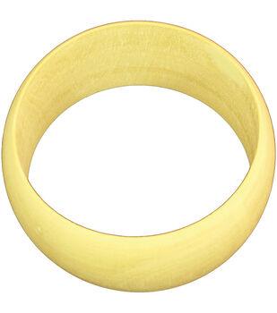 """Unfinished Wooden Bangle Bracelet Dome Exterior-Medium 1.5"""" Wide"""