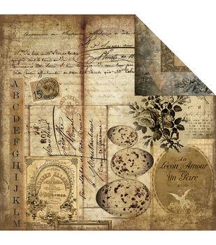 Melissa Frances Glamour  & Grunge Nature Study Double-Sided Cardstock