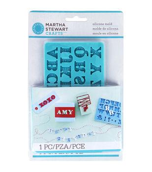 Martha Stewart Crafts Crafter's clay Silicone Mold Alphabet