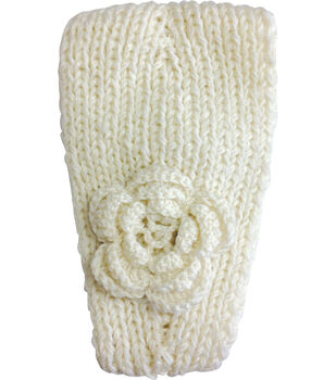 Laliberi Winter Knit Headwrap In Ivory