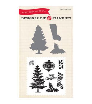 Echo Park Die & Stamp Combo Set-Tis The Season