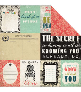 """Moments & Memories Double-Sided Cardstock 12""""X12""""-Journaling Cards"""