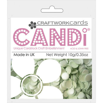 Craftwork Cards Candi Dot Colour Pop Embellishments Pistachio