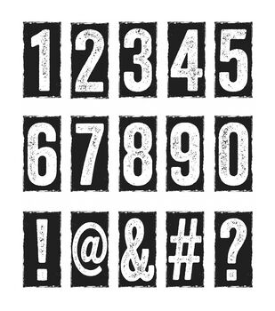 Stampers Anonymous Number Blocks Cling Rubber Stamp Set