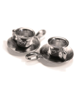 FabScraps Silver Cup With Saucer Embellishments