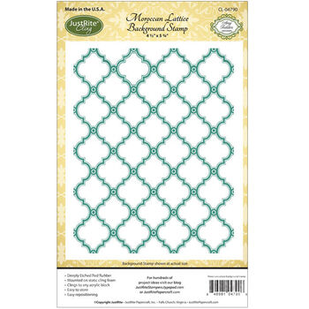 JustRite Papercraft Cling Background Stamp Moroccan Lattice