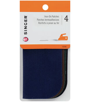 Singer®  Iron-On Patches 5x5'' 4/Pkg-Dark Assortment