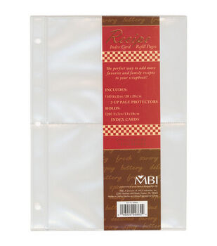 5''x7'' Family Recipe 3-Ring Refill Pages-10PK