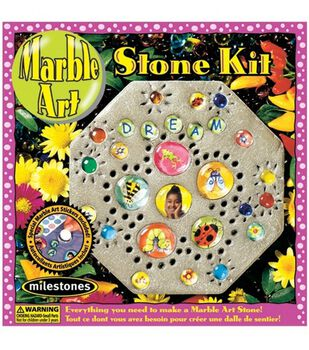 Milestones Kids Marble Art Stepping Stone Kit