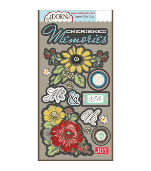 Adorn-It Chamberry Laser Die-Cuts Memories