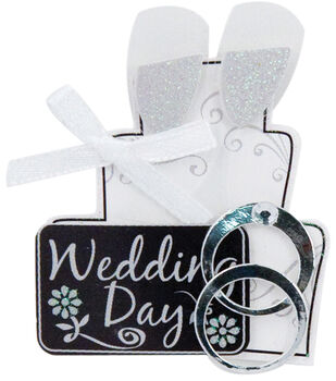 Karen Foster Lil' Stacks 3-D Sticker-Wedding