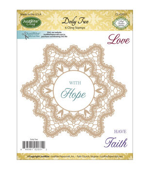 JustRite Papercraft Doily Two Mini Cling Stamp Set