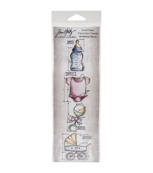 Stampers Anonymous Mini Blueprints Strip Baby Cling Rubber Stamps