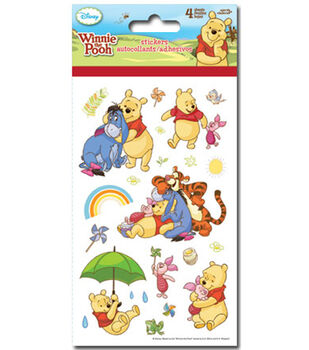 Pooh 4 Sheet Sticker
