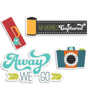 Perfect Vacation Cardstock Die-Cuts 12/Pkg-Flashy