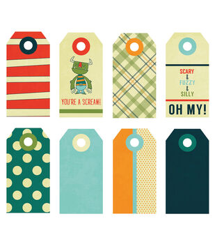 Fancy Pants Small 8/Pk - Be Different Decorative Tags