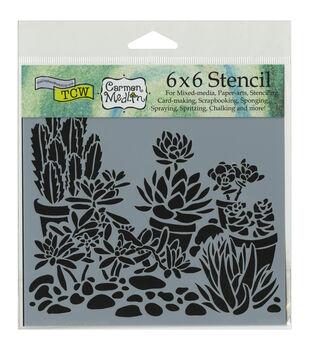 Crafter's Workshop Desert Garden Template 6''x6''