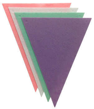 Stiff Felt Banner Pieces - 4 Pack - Triangles - Pastels