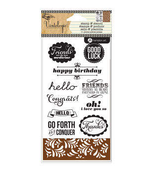 Hampton Art Stamp & Stencil Set-Occasions