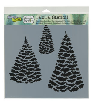 Crafter's Workshop Evergreens Template 12''x12''