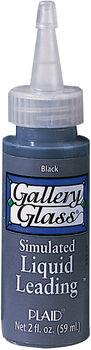 Gallery Glass Liquid Leading 2oz-Black