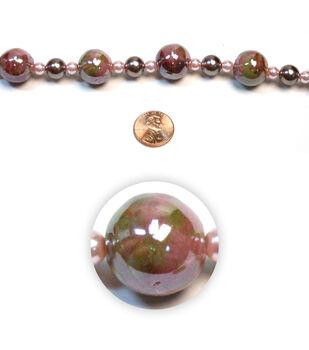 Iridescent Swirl Ceramic Beads