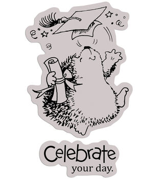 """Penny Black Cling Rubber Stamp 4""""X5""""-A Scholar"""