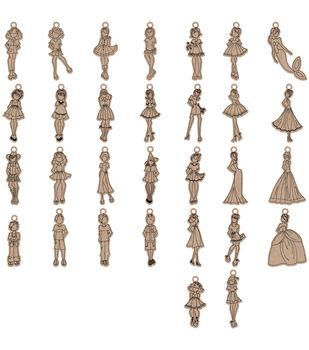 Prima Marketing Julie Nutting Mixed Media Laser Cut Wood Doll Shapes