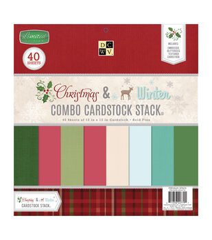 "DCWV 12""x12"" Christmas & Winter Combo Cardstock Stack"