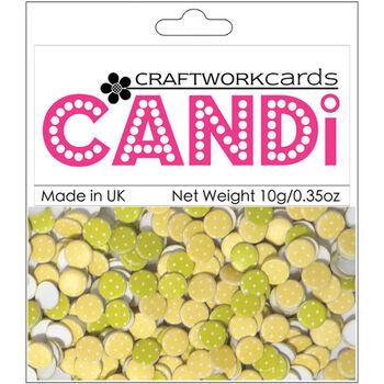 Craftwork Cards Candi Dot Printed Embellishments Citrus Burst
