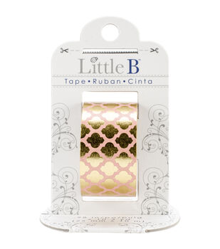 Little B Foil Tape 25mmX10m-Gold Moroccan Window