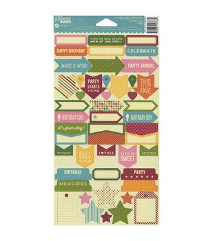 "Birthday Bisque Cardstock Stickers 6""X11""-"