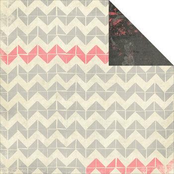Glitz Design Love You Madly Herringbone Double-Sided Paper 12''x12''