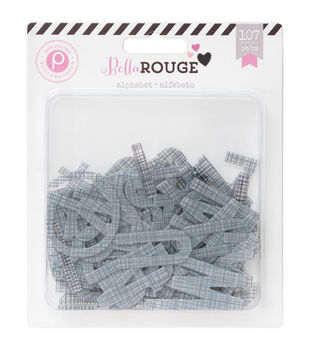 Bella Rouge Printed Transparent Alphabet 107/Pkg-Transparent