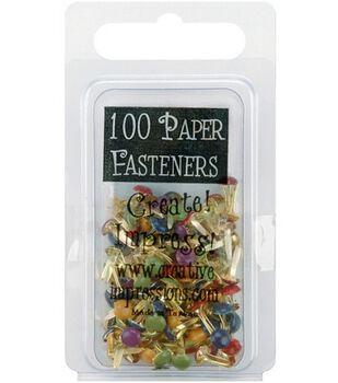 Mini Painted Metal Paper Fasteners-Heritage