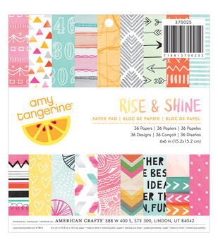 American Crafts Amy Tan Rise & Shine Paper Pad 6''x6''